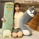 Cartoon Animal Dinosaur Husky Plush Toys Stuffed Long Pillow Doll Cushion Gift