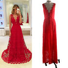 Women Red Sexy Ball Gown Party Dress Evening Cocktail Bridesmaid Wedding Dresses