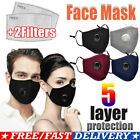 Kyпить Face Mask With 2 Filters Washable Reusable Activated Carbon respirator Cotton на еВаy.соm