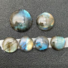 25mm 30mm High Quality Natural Labradorite Round Cabochon Cabs Jewerly Makings