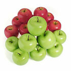 6/12Pcs Artificial Apples Fake Fruit Food Kitchen Office Home Party Decoration