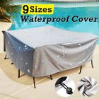 Waterproof Garden Patio Furniture Protection Covers Outdoor Table Sun Cover Gray