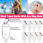 Travel Plastic Clear Keychain Bottles Leakproof Empty Squeeze Containers Flip