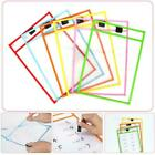 A4 Wipe Clean Pockets Drawing Writing Colouring Dry-erase Markers New Q7c2