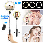LED Ring Light +Tripod Stand + Phone Holder Makeup Selfie Stick Studio Live Lamp