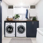 Wash and Dry Decals, Set of 2, Laundry Room Decals, Laundy Organizer *333