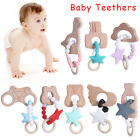 Safety Bracelet BPA-Free Silicone Baby Teethers Bite Toys Chew Beads Necklace