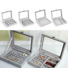 Women Jewelry Boxes Necklace Organizer Earring Storage Case Ring Tray Display