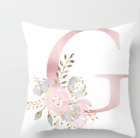 PINK LETTER POLYESTER CUSHION COVER PILLOW CASE WAIST THROW HOME SOFA DECOR