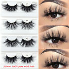 Criss-cross False Eyelashes Thick Long 100% 3D Mink Hair Eye Lash Extension
