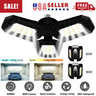 80W 8000LM Deformable LED Garage Light Super Bright Shop Ceiling Lights Bulb USA