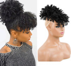 Short Afro Kinky Curly Ponytail High Puff Drawstring Hair Extensions