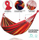 Outdoor Camping Cotton Hanging Hammock Garden Swing Chair Bed ForYard Porch USA