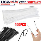 100/200pcs 12'' Durable Nylon Cable Zip Ties Heavy Duty Wrap Wire Home Workshop