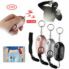 130dB Personal Safe sound Anti-Attack Alarm LED Self-defense Keychain Emergency