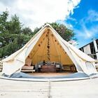 4-Season 6M Bell Tent Waterproof Glamping Outdoors Cotton Canvas Yurt FamilyTent