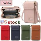 Women Small Pu Leather Cell Phone Case Shoulder Bag Pouch Handbag Purse Wallet