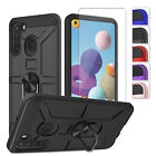 For Samsung Galaxy A21 Case Magnetic Kickstand Shockproof Cover/screen Protector
