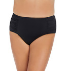 Ambrielle Women's High Waist Swimsuit Bottom-Plus, Black, Size 2X