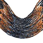 AAA+ Rare Pietersite Gemstone 3mm-4mm Faceted Rondelle Beads 13inch Strand