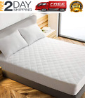 King Size Mattress Pad Cover Memory Foam Pillow Top Cooling Overfilled Topper image