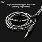 TRN 8 Core Silver Plated Cable HIFI Earphone MMCX/2Pin Connector For V10 V60 V80