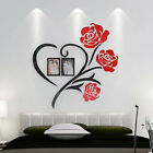Love Rose Wall Decals 3d Diy Photo Frame Wall Stickers Mural Home Decoration Hot