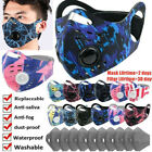 Reusable Face Mask Breathing Valves With Filters Pad Washable Mouth Cover Shield