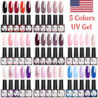5 Bottles UR SUGAR UV Gel Polish Set Soak Off Glitter Nail Art Gel Varnish DIY