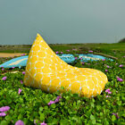 Yellow outdoor bean bags, waterproof bean bag chairs + waterproof inner case