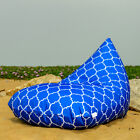 Blue outdoor bean bags, waterproof bean bag chairs + waterproof inner case