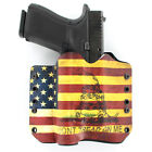 OWB Kydex Holster for Hanguns with Crimson Trace CMR 208 - DON'T TREAD USA FLAG