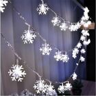 LED Snowflake String Lights Snow Fairy Garland Decoration For Christmas Tree