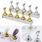 False Nail Tips Practice Display Stand Holder Acrylic Magnetic Nails Salon Tool