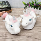 Womans Slippers Novelty 3D Slippers Ladies Unicorn Soft Plush Fluffy Girls Shoes