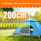 Tent Pop Up Outdoor Camping Waterproof Easy Instant Family Hiking Beach 3-4 Man