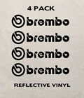 Set of 4 Brembo Brake Vinyl Decal Caliper Stickers - REFLECTIVE 3M