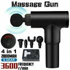 UK Percussion Massage Gun Massager Muscle Vibration Relaxing Therapy Deep Tissue