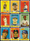 2007 Topps Heritage Base, SP, Yellow Team Name Card You Pick Finish Your Set