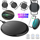10W Qi Wireless Fast Charging Pad Charger Mat Dock LED Stand for iPhone Samsung