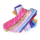 Satin Bow Pearl Long Gloves Elbow Length Princess Costume Dress Baby Girls KY US
