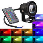 12V 10W Waterproof RGB LED Underwater Light Submersible Lamp with Remote Control