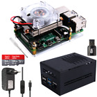 Raspberry Pi 4 B Strong Cooler Starter Kit with Metal Case Ice Tower Power