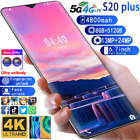 """6.7"""" S20plus 8+512gb Smartphone Unlocked Android10 13mp+24mp 10core Mobile Phone"""