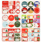 Self Adhesive Merry Christmas Gift Paper Sticker Xmas Ornament Package Label