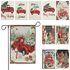 Sided Merry Xmas Red Truck With Tree Christmas Garden Flag Welcome Farmhouse