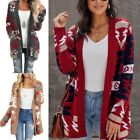 Women's Fashion Cardigan Long Sleeves Knitted Loose Autumn Wool Colorful Sweater