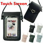 Womens Cross-body Bag Touch Screen Cell Phone Wallet Shoulder Bag Leather Pouch