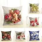 "18"" Pillow Case Christmas Ball Linen Cotton Home Decor Sofa Waist Cushion Cover"