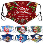 Reusable Washable Breathable Face Mask Cover Snowflakes Merry Christmas Tree USA